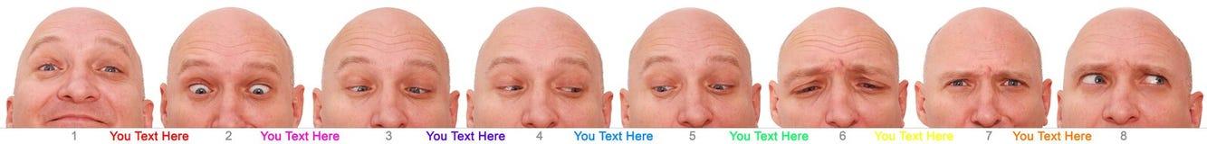 Veelvoudig mensengezicht stock afbeeldingen