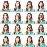 Veelvoudig Portret stock foto's