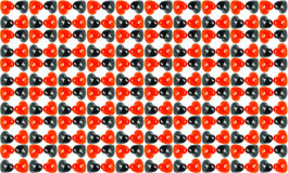 Veelvoudig Rood Zwart Liefdemarmer met witte backgro Royalty-vrije Stock Foto's