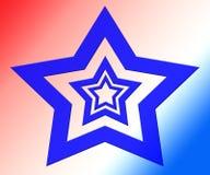 Veelvoudige Blauwe sterren Royalty-vrije Illustratie