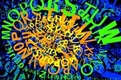 Veelvoudige de chaostextuur van kleurenbrieven Royalty-vrije Stock Foto's