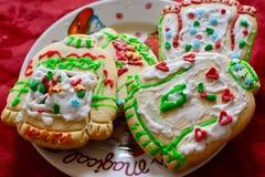 Veelvoudige Eigengemaakte Kerstmiskoekjes Stock Foto