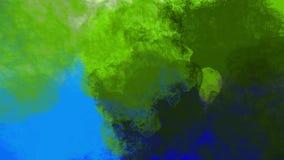 Veelvoudige explosie van zich deeltjes en elkaar het mengen in, 2d animatiegrafiek vector illustratie