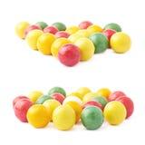 Veelvoudige geïsoleerde kauwgomballen Stock Afbeeldingen