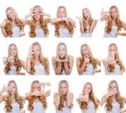 Veelvoudige gebaren of tekens Royalty-vrije Stock Foto's