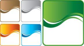 Veelvoudige gekleurde golfachtergronden Royalty-vrije Stock Fotografie