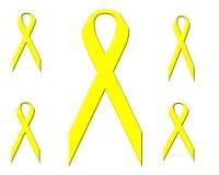 Veelvoudige Gele Linten Stock Fotografie