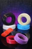 Veelvoudige kleurenkabels Stock Afbeeldingen
