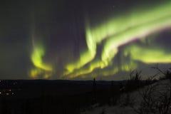 Veelvoudige kleurrijke banden van de noordelijke lichten Royalty-vrije Stock Foto