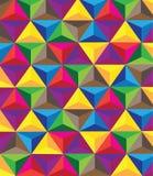 Veelvoudige kleurrijke hartachtergrond Stock Fotografie