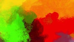 Veelvoudige kleurrijke poeder of deeltjesconflicten met elkaar vector illustratie