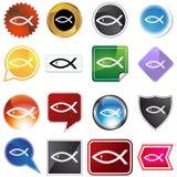 Veelvoudige Knopen - Godsdienstige Vissen Stock Afbeeldingen