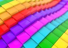 Veelvoudige kubus bedrijfsachtergrond voor presentatie Stock Foto