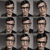 Veelvoudige manier en buitensporige mannelijke portretten stock afbeeldingen