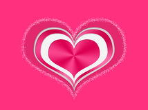 Veelvoudige rode en witte valentijnskaartharten Royalty-vrije Stock Afbeelding