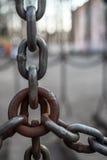 Veelvoudige verbonden kettingen Stock Foto's