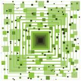 Veelvoudige Vierkanten en Lijnen Abstracte Achtergrond royalty-vrije illustratie