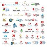 Inzameling van de universele emblemen van symbolentekens Stock Foto