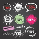 Vector teken 100 Stock Foto's