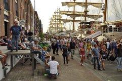 Veemkade w czasie żagla Amsterdam Zdjęcie Royalty Free
