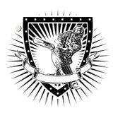 Veenmolschild Royalty-vrije Stock Afbeelding