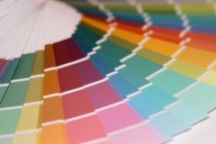 Pantone colors for paint. Veer Pantone colors to paint. Many different colors royalty free stock photo