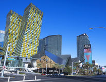 A Veer Towers, Cosmopolitan, Crystals, Aria Strip Shot Stock Images
