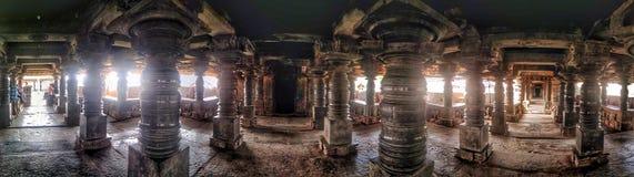 Veeranarayana Hoysala świątynia przy Belavadi Obrazy Royalty Free