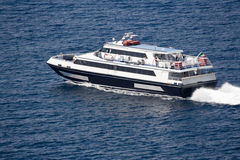 Veerboot aan Capri royalty-vrije stock afbeelding
