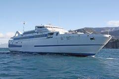 Veerboot aan Capri Stock Foto