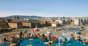 Veerboot aan Denemarken stock foto's