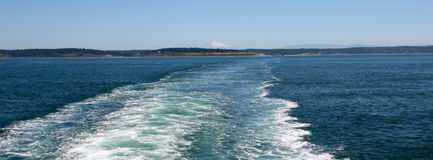 Veerboot aan Olympisch nationaal park Royalty-vrije Stock Afbeelding