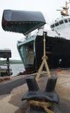 Veerboot bij terminal Royalty-vrije Stock Fotografie