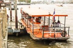 Veerboot in Chao Phraya River Royalty-vrije Stock Afbeelding