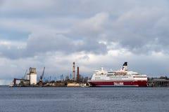 Veerboot in de haven Royalty-vrije Stock Afbeelding