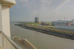 Veerboot die Den Helder For Texel The Netherlands verlaten stock fotografie