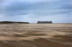 Veerboot die naar Texel, Nederland gaan royalty-vrije stock afbeeldingen