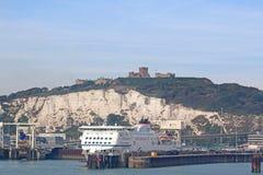 Veerboot in Dover Harbour Royalty-vrije Stock Foto's