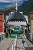 Veerboot in Flam, Noorwegen stock foto