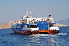 Veerboot, Halki Stock Afbeeldingen