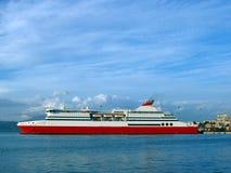 Veerboot - haven van Patra Stock Afbeelding