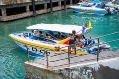 Veerboot het aankomen haven royalty-vrije stock foto