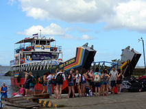 Veerboot in het Meer van Nicaragua stock foto
