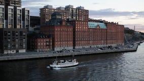 Veerboot in Nacka, Stockholm, Zweden stock videobeelden