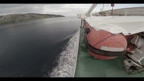 Veerboot op Adriatische Overzees stock videobeelden