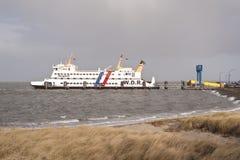 Veerboot op Amrum Stock Foto