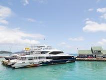 Veerboot op het dok Royalty-vrije Stock Fotografie