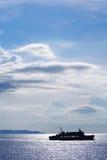 Veerboot op het overzees stock foto