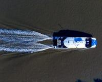 Veerboot op hoog niveau royalty-vrije stock fotografie