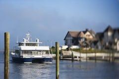 Veerboot op Kaal HoofdEiland. royalty-vrije stock foto's